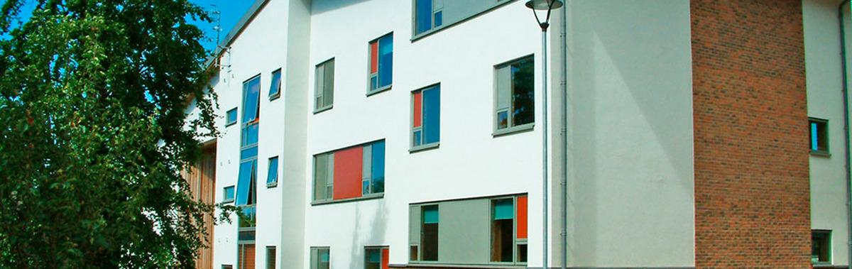 Cliffe student accommodation blocks at the University of Brighton